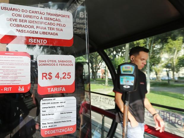 Novos preços da passagem de ônibus passam a valer a partir desta segunda-feira  (Foto: Giuliano Gomes/ PR PRESS)
