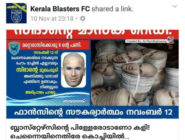 BLOG: Torcedores usarão máscaras de Zidane para intimidar Materazzi na Índia