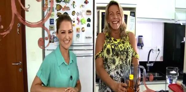 Recordista de apneia faz receita em casa (Foto: Reprodução/RBS TV)
