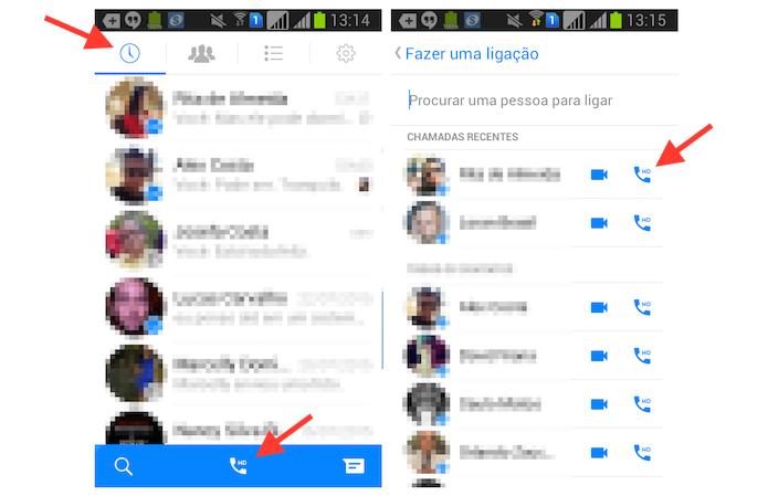 Acessando a lista de contatos disponíveis para uma ligação de áudio no Facebook Messenger para Android (Foto: Reprodução/Marvin Costa) (Foto: Acessando a lista de contatos disponíveis para uma ligação de áudio no Facebook Messenger para Android (Foto: Reprodução/Marvin Costa))