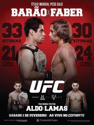 Poster UFC 169 -  Barão Faber Aldo Lamas (Foto: Divulgação)