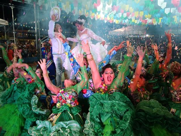 Participantes da Pé de Serra não esconderam animação durante a performance (Foto: Jonathan Lins/G1)