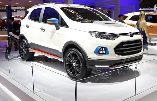 Ford EcoSport Beauty no Salão do Automóvel 2014 (Foto: Fabio Aro/Autoesporte)