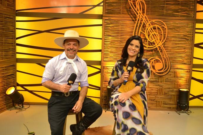 Shana Müller e Neto Fagundes (Foto: Divulgação/RBS TV)