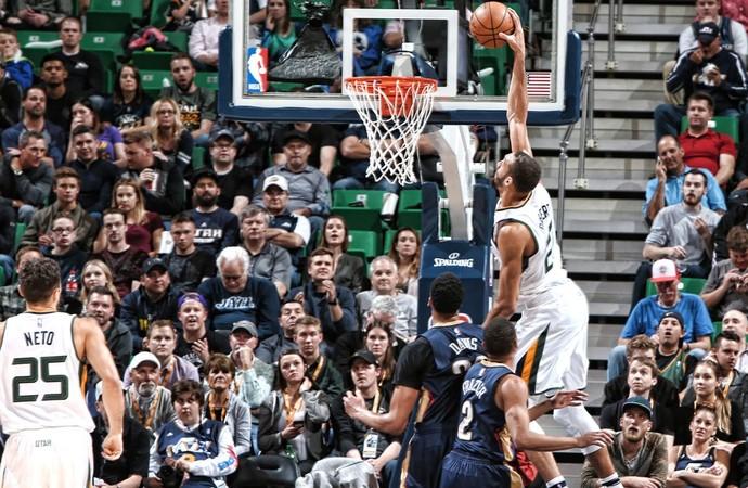 Rudy Gobert Jazz x Pelicans NBA (Foto: Reprodução / Twitter Utah Jazz)