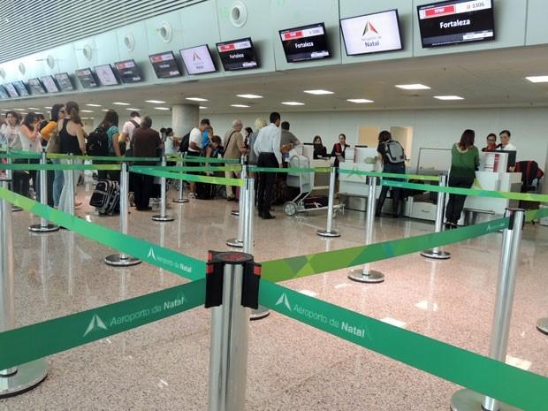 Aeroporto Aluízio Alves, em São Gonçalo do Amarante (Foto: Fred Carvalho/G1)