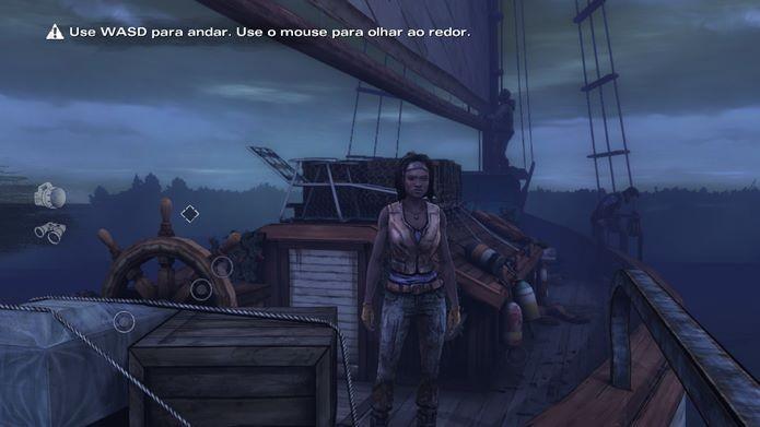 Há poucas novidades na jogabilidade de The Walking Dead: Michonne (Foto: Reprodução / Dario Coutinho)
