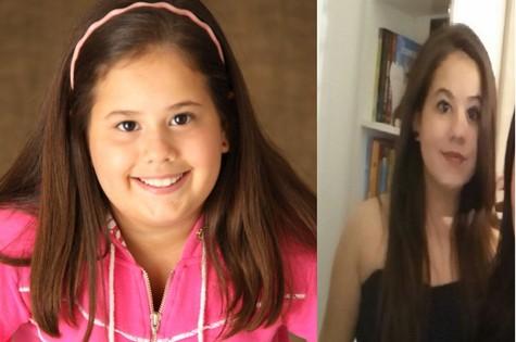 Ana Karolina Lannes como Ágata de 'Avenida Brasil' e hoje, aos 14 anos (Foto: Arquivo pessoal)