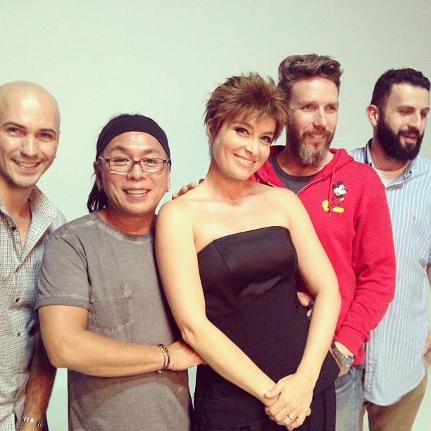 Angélica posa com equipe (Foto: Reprodução/Instagram)