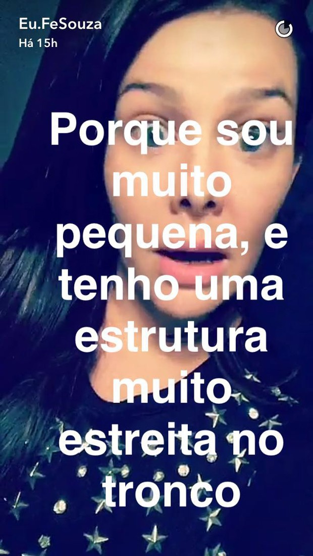 Fernanda Souza (Foto: Reprodução/Snapchat)