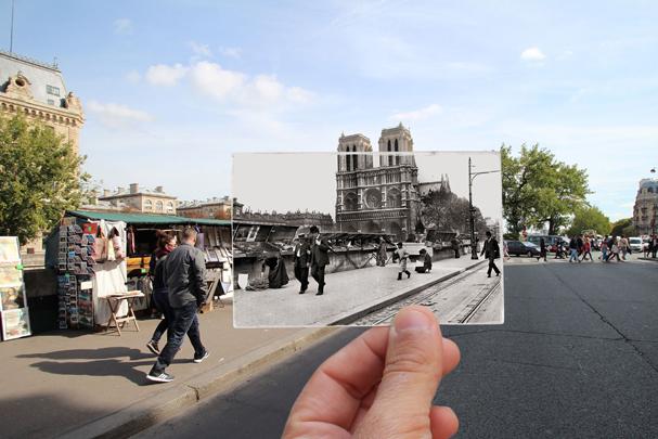 Quai Saint-Michel, 1914 (Foto: JULIEN KNEZ / ALBERT HARLINGUE / ROGER-VIOLLET)