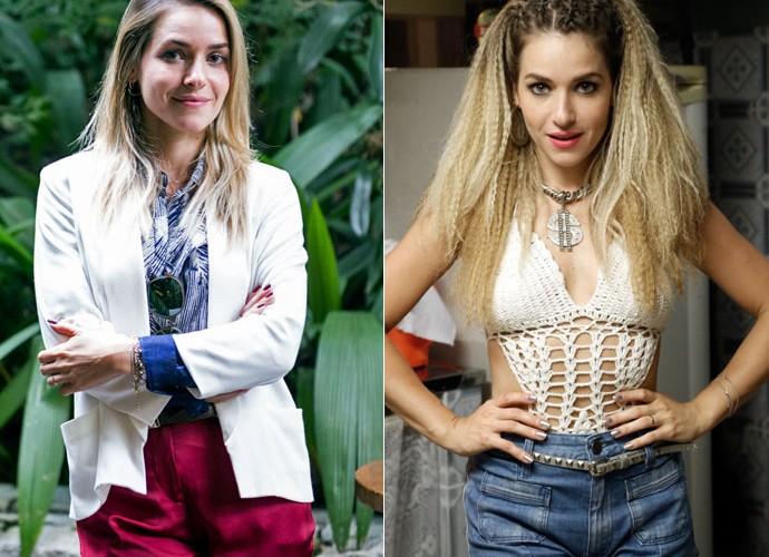 Veja o antes e depois de Monique Alfradique (Foto: Ellen Soares e Raphael Dias/Gshow)