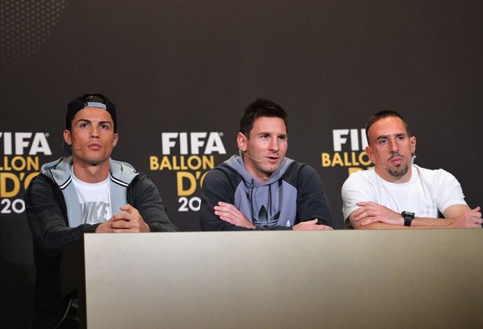 Cristiano Ronaldo messi ribery prêmio bola de ouro 2013 (Foto: Agência Getty Images)