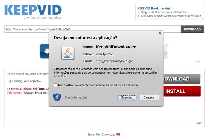 Keepvid é online (Foto: Aline Jesus/TechTudo)