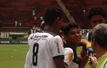 """Jajá comemora encontro com o gol e comenta pintura contra URT: """"Fui feliz"""""""