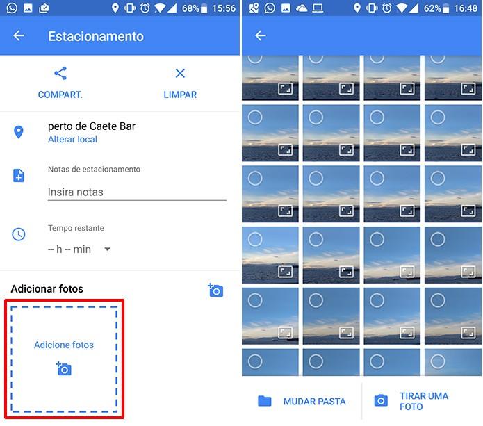 Google Maps permite que usuário adicione fotos da galeria ou da câmera (Foto: Reprodução/Elson de Souza)