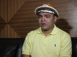 Cantor se emociou ao relatar episódio e falar dos filhos (Foto: Gustavo Almeida/G1)