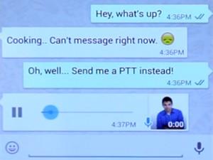 Ícone de microfone no WhatsApp possibilita a gravação de mensagens de voz (Foto: Reprodução)
