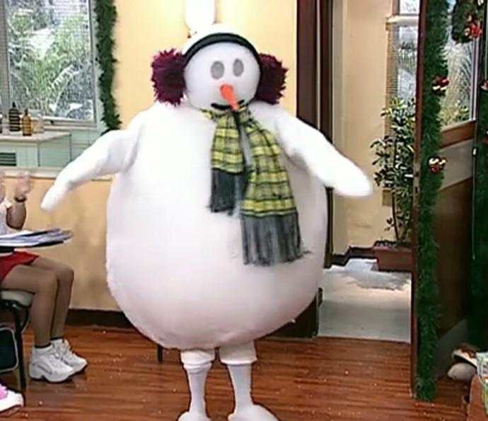 Seu Boneco de Neve da Escolinha do Professor Raimundo (Foto: TV Globo)