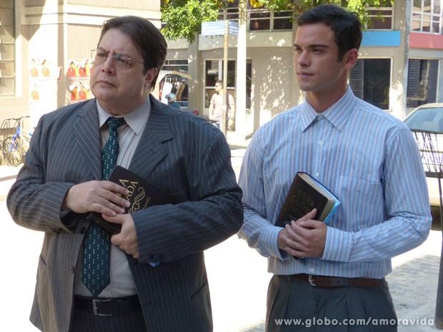 Sidney grava como o missionário Elias (Foto: Amor à Vida/ TV Globo)