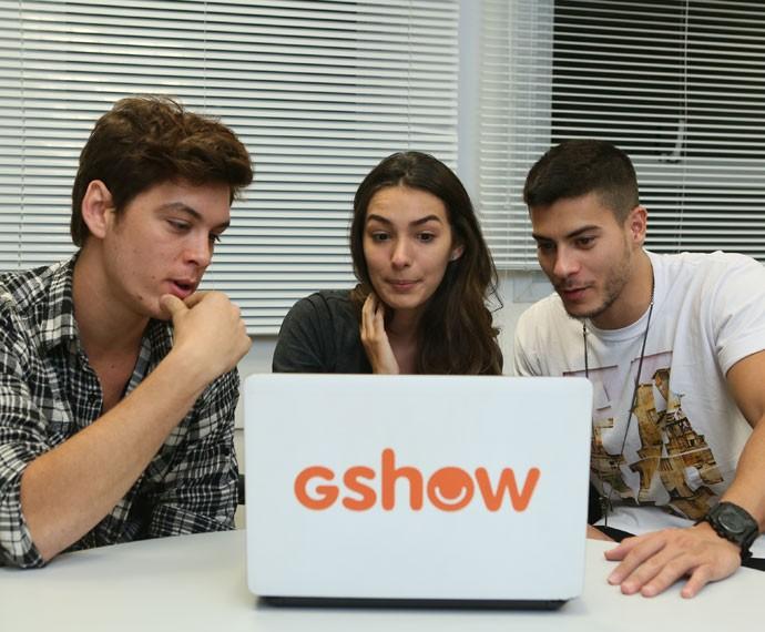 Marina e João fizeram cara de surpresa! (Foto: Isabella Pinheiro/Gshow)