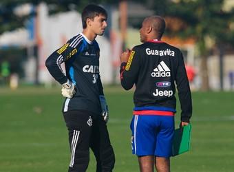 Cristóvão Borges e César, Flamengo (Foto: Gilvan de Souza / Flamengo)