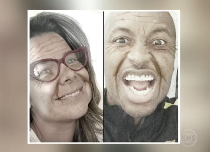 Fernanda Souza e Thiaguinho na velhice (Foto: TV Globo)
