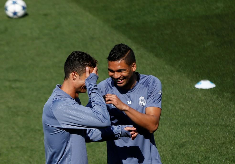 Cristiano Ronaldo e Casemiro são peças fundamentais no esquema do Real Madrid de Zidane (Foto: Reuters)