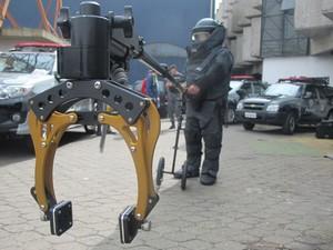 Braço robótico (Foto: Kleber Tomaz / G1)