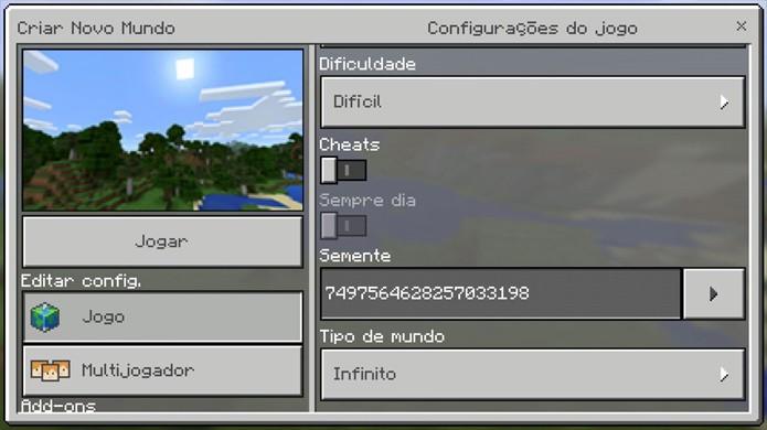 Suposta Seed amaldiçoada de Minecraft: Pocket Edition levaria até o Lick (Foto: Reprodução/Rafael Monteiro)