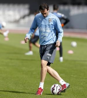 Godín treino Uruguai (Foto:  REUTERS/Andres Stapff)