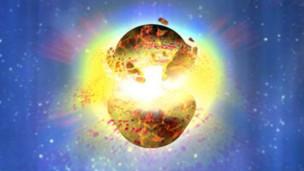 Explosão teria sido resultado da fusão de dois buracos negros ou estrelas de nêutrons em nossa galáxia (Foto: Nasa/BBC)