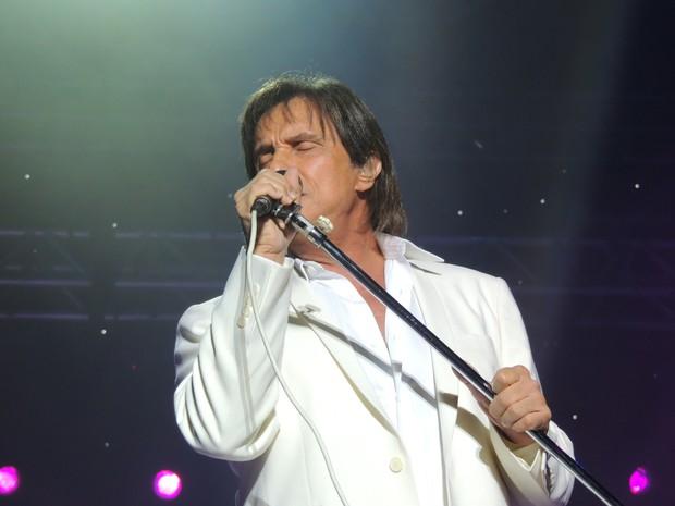 """Roberto Carlos cantou sucessos como """"Esse cara sou eu"""" (Foto: Géssica Valentini/G1)"""