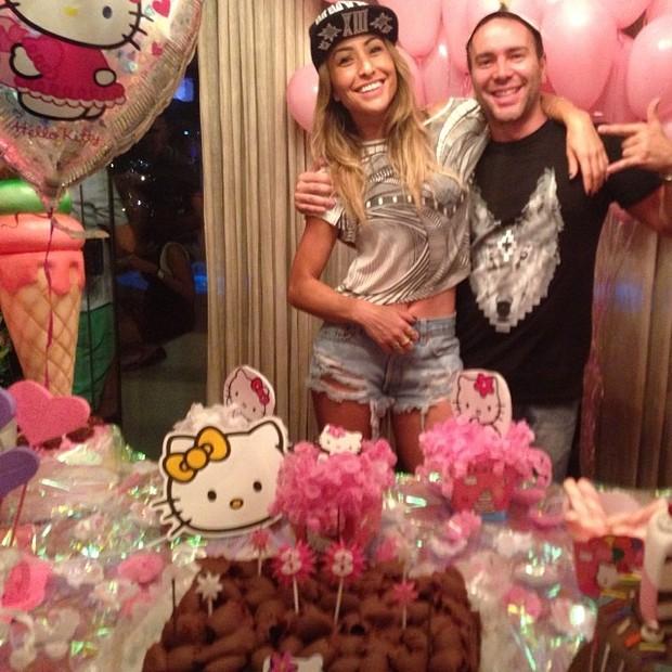 Sabrina Sato e Matheus Massafera no aniversário da apresentadora em São Paulo (Foto: Instagram/ Reprodução)