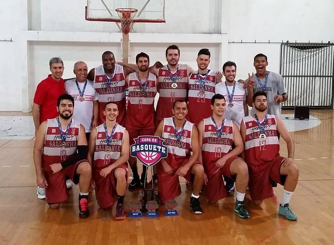 Saldanha da Gama, campeão da Copa Espírito Santo de basquete 2016 (Foto: Sidney Magno Novo/GloboEsporte.com)