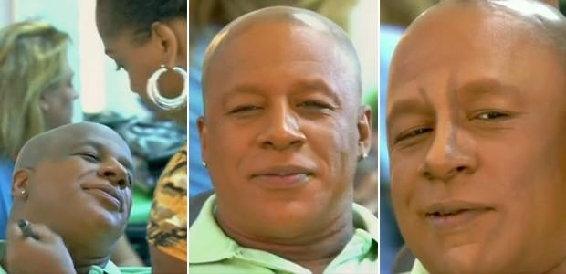 Ailton Graça passa pelos primeiros passos para se transformar em Xana (Foto: Vídeo Show / TV Globo)