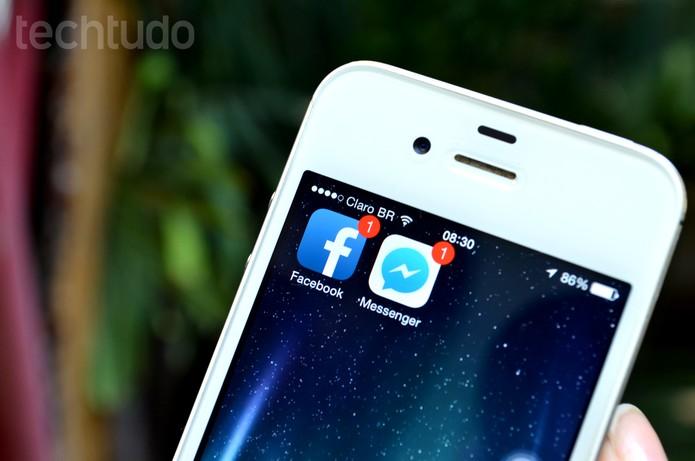 Facebook e Messenger (Foto: Luciana Maline/TechTudo)