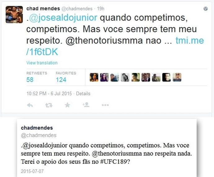 UFC José Aldo Chad Mendes