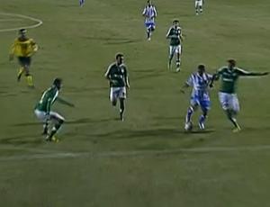 Márcio Diogo, Palmeiras x Avaí (Foto: Reprodução/SporTV)