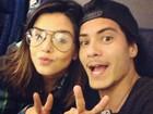 Giovanna Lancellotti e Arthur Aguiar aproveitam feriado para viajar
