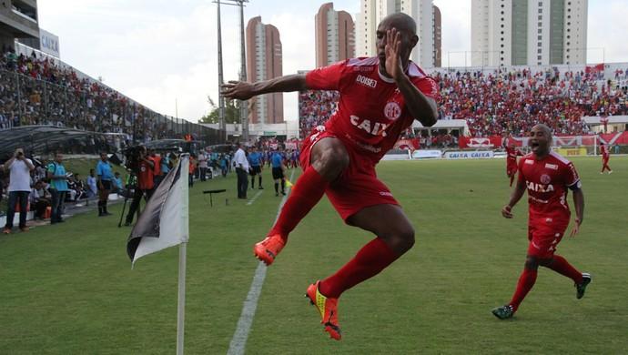 Flávio Boaventura América-RN comemora gol título (Foto  Fabiano de Oliveira) 94bcb37ca868a