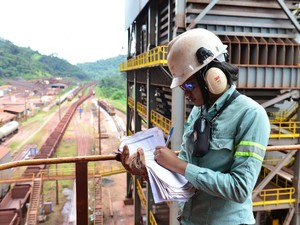 Natalia Araujo é estagiaria de eletromecanica da Vale. mineradora Pará (Foto: Divulgação/ Salviano Machado)