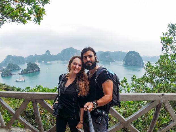 Casal viaja pelo mundo e já conheceu mais de 30 países (Foto: Arquivo pessoal)