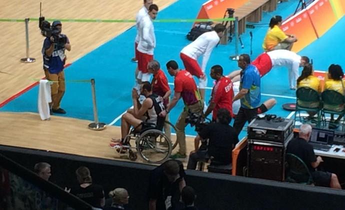 Ahmed El Kotb Egito vôlei cadeira de rodas (Foto: Carlos Augusto Ferrari)