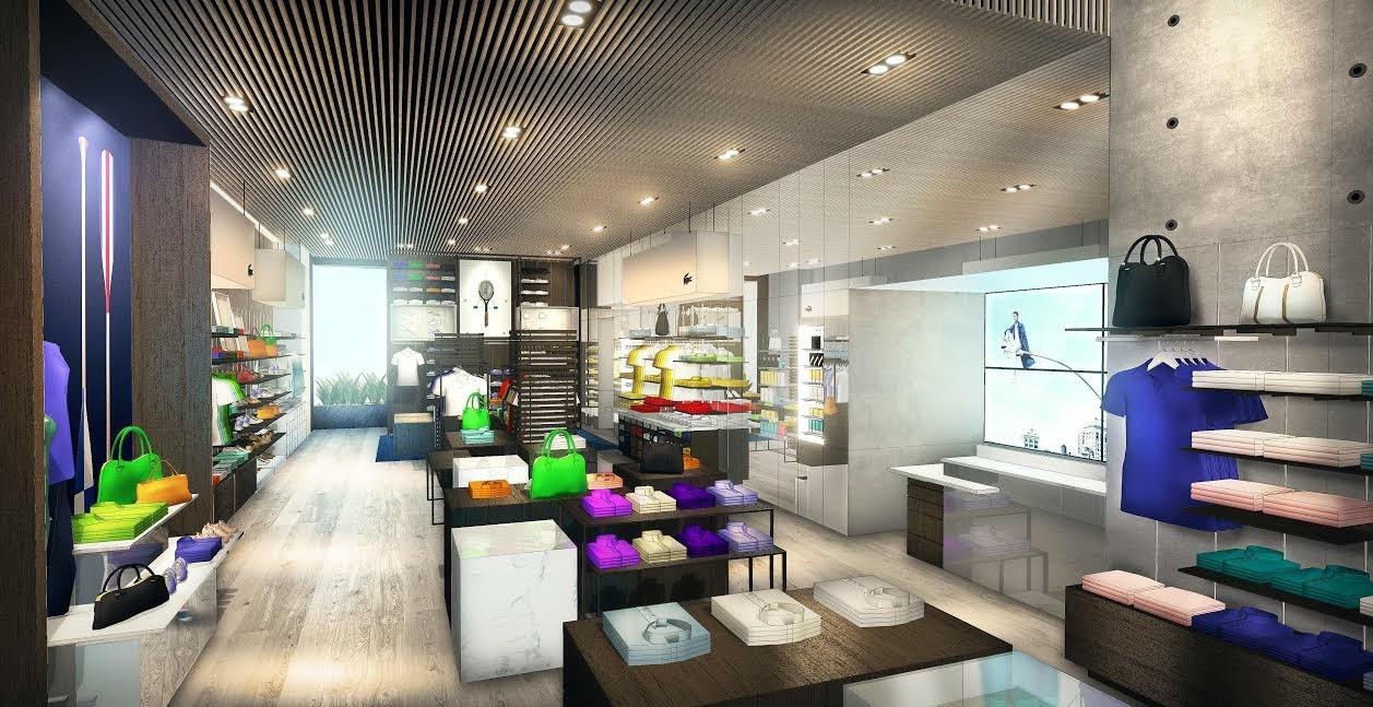 ca45c098c14 Projeto da nova loja conceito da Lacoste no shopping Iguatemi São Paulo  (Foto  Divulgação