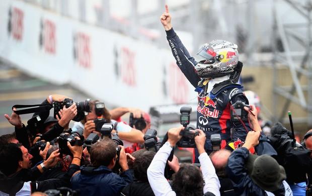 Vettel campeão da Fórmula 1 em Interlagos (Foto: Getty Images)