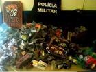 Gasolina e produtos são apreendidos pela Polícia Militar em Pacaraima, RR