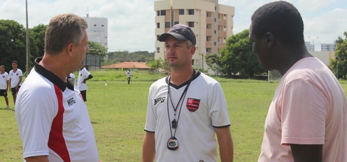 Flamengo-PI: Frasson, Marcos Paulo e Valter Maranhão (Foto: Abdias Bideh/GloboEsporte.com)