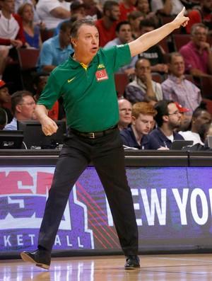 basquete Ruben Magnano Brasil e EUA amistoso united Center (Foto: Agência AP)