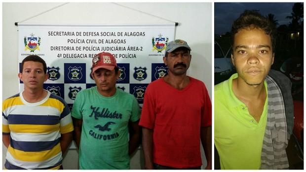 Presos foram levados para a delegacia de Arapiraca (Foto: Divulgação/Polícia Civil)